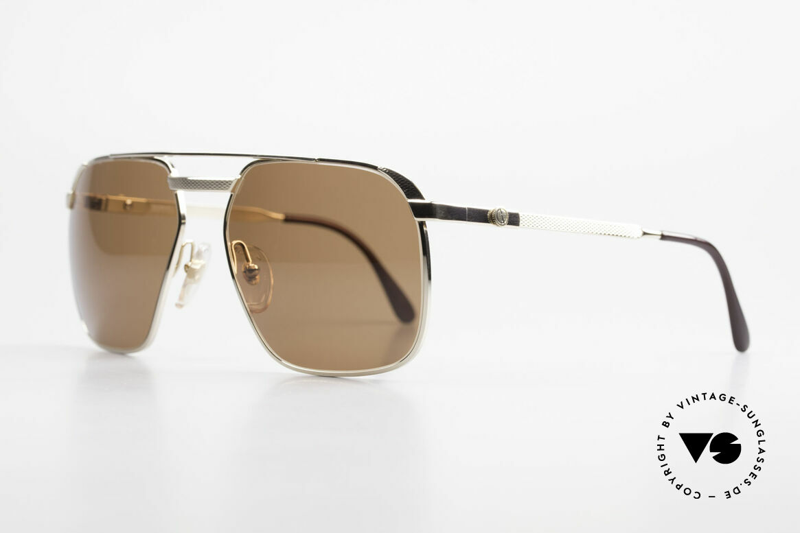 Dunhill 6011 Gold Plated Sunglasses 80's, costly, GOLD-PLATED frame in MEDIUM size 59-17, 130, Made for Men