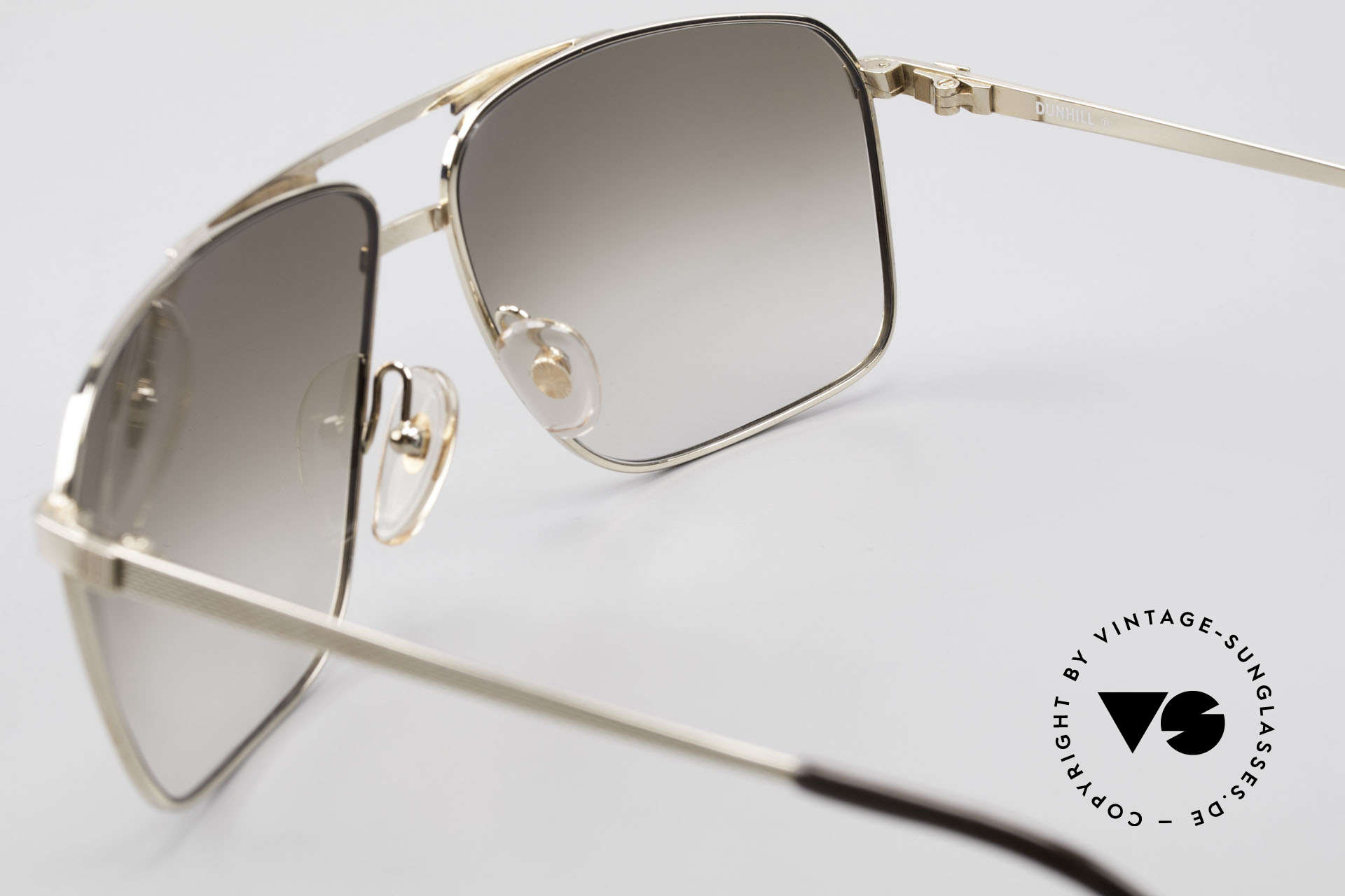 Dunhill 6126 Gold Plated 90's Sunglasses, NO RETRO frame, but a precious old original from 1990, Made for Men