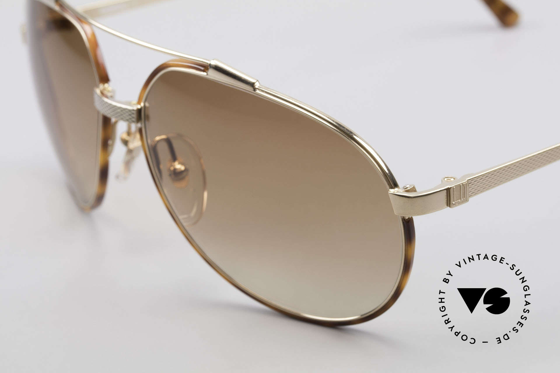 Dunhill 6174 Comfort Fit Luxury Sunglasses, an elegant classic with light tortoise windsor rings, Made for Men