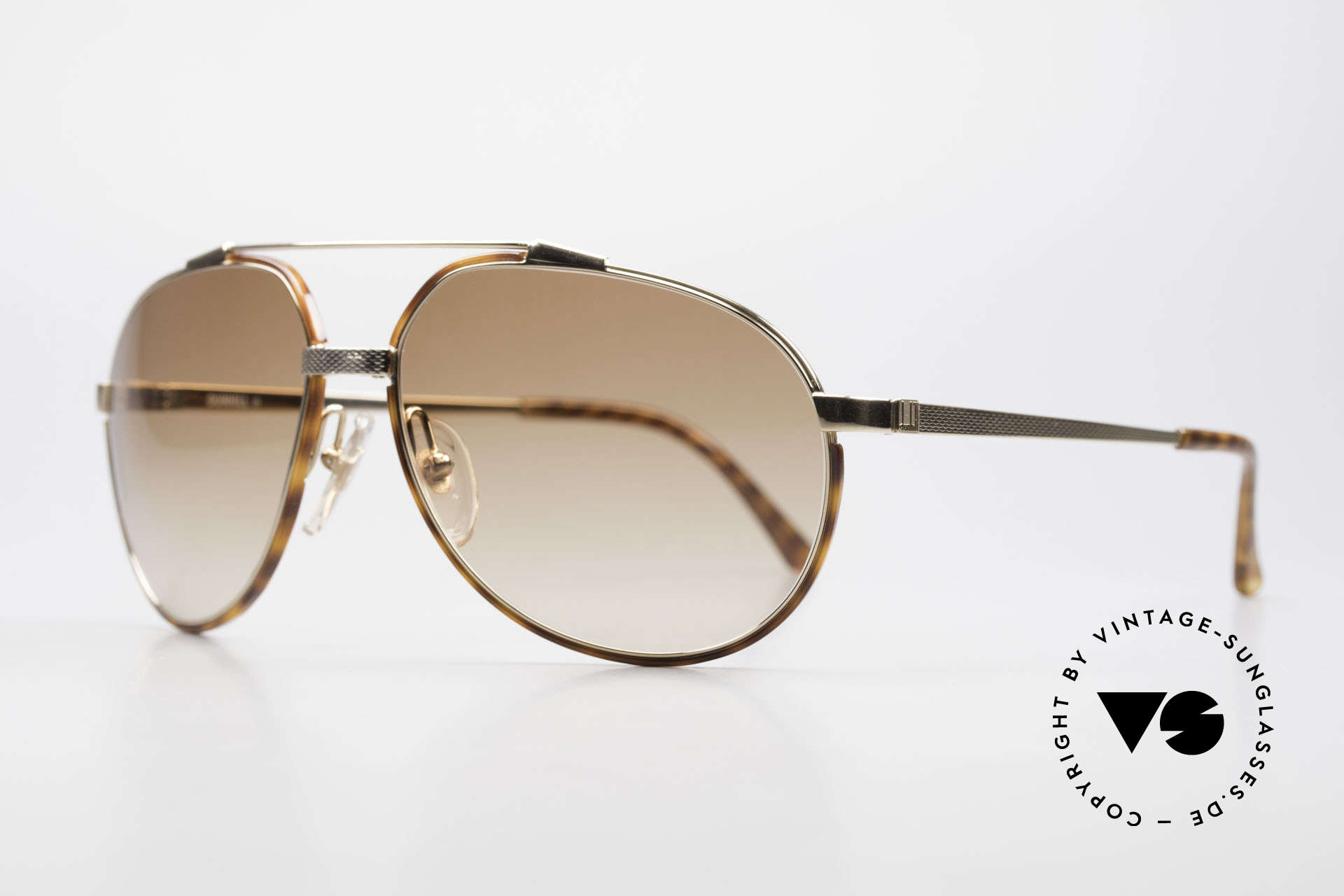 Dunhill 6174 Comfort Fit Luxury Sunglasses, gold-plated & BARLEY: hundreds of minute facets, Made for Men
