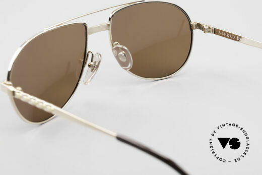 Dunhill 6147 90's Luxury Aviator Sunglasses, NO RETRO pilots SHADES, but authentic 1990's rarity, Made for Men