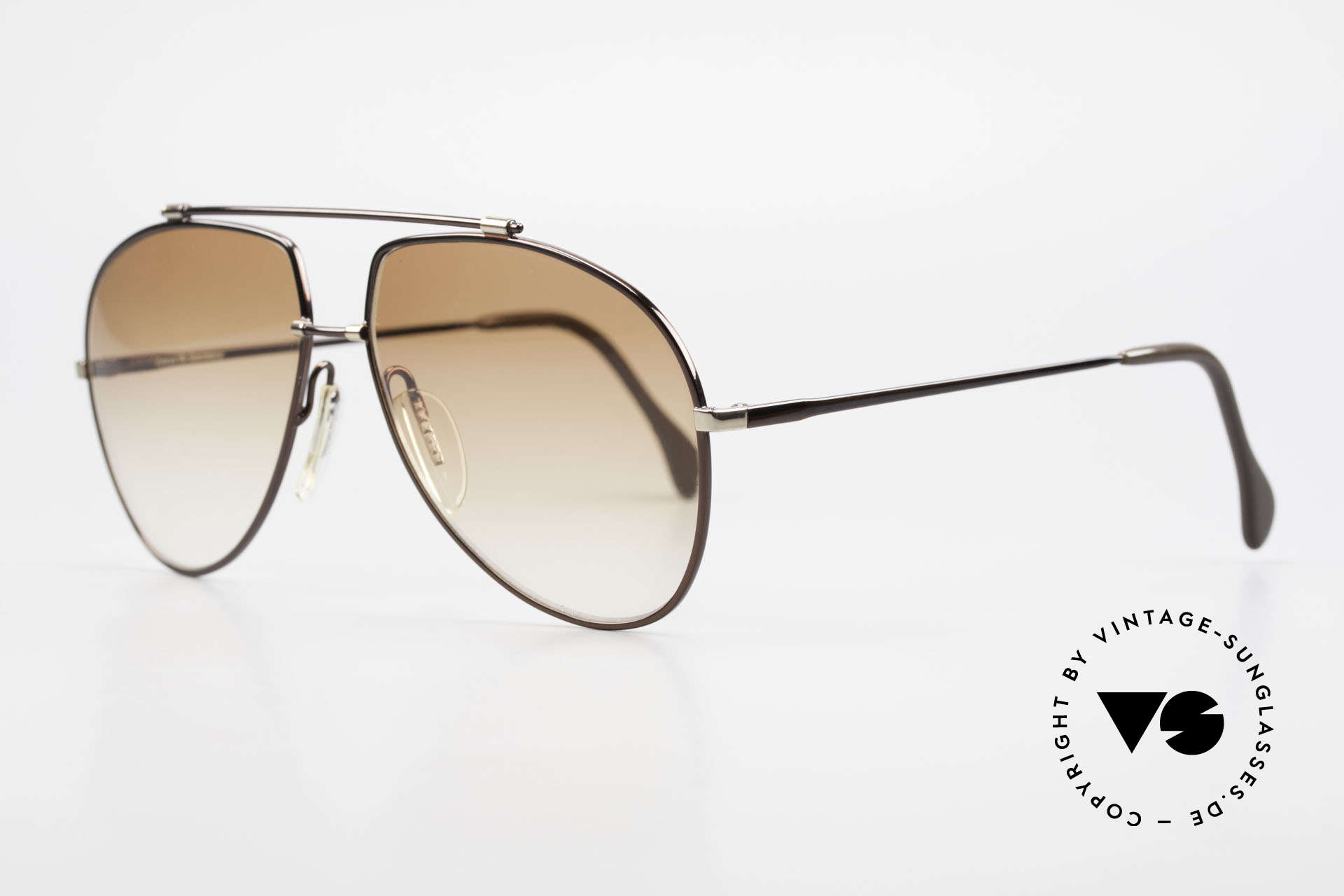 "Zeiss 9371 Old 80's Aviator Sunglasses, very interesting frame finish in ""dark-brown metallic"", Made for Men"
