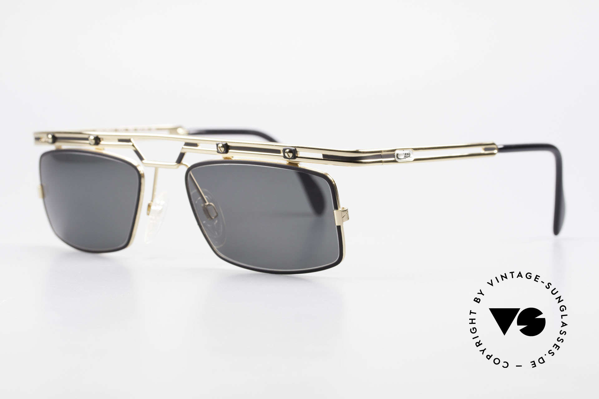 Cazal 975 Square Vintage Sunglasses 90's, great metalwork and overall craftmanship; durable!, Made for Men