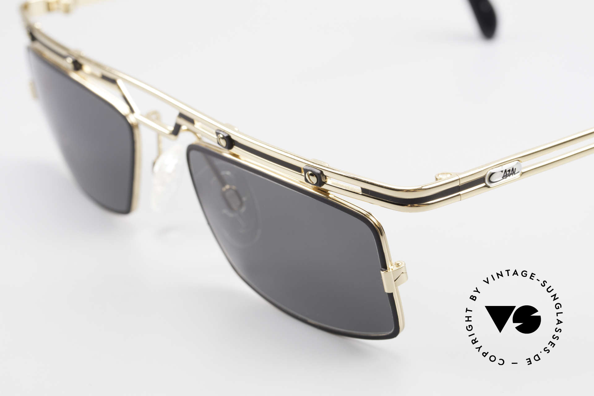 Cazal 975 Square Vintage Sunglasses 90's, tangible superior crafting quality (made in Germany), Made for Men