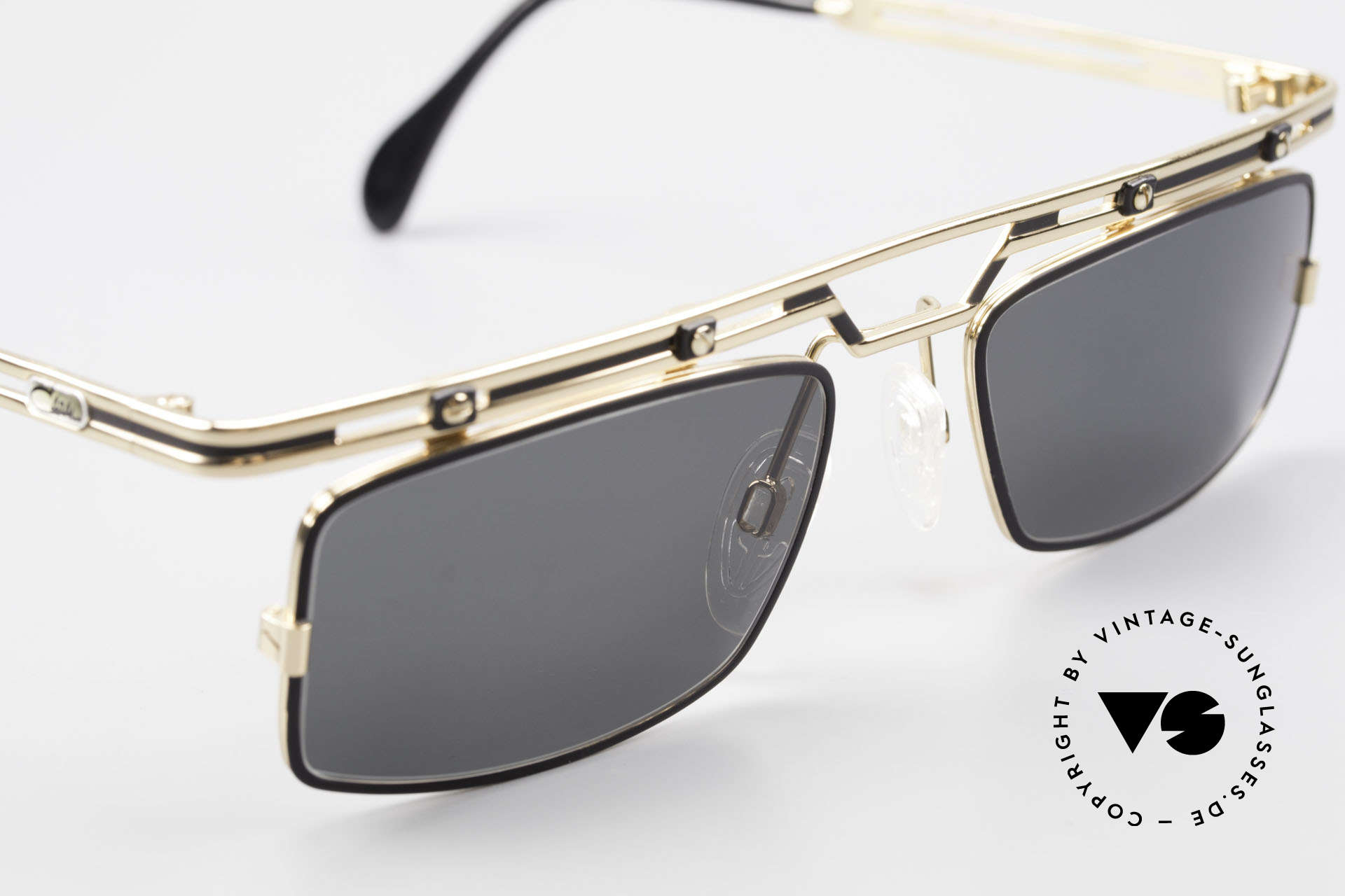 Cazal 975 Square Vintage Sunglasses 90's, never used (like all our rare vintage CAZAL eyewear), Made for Men