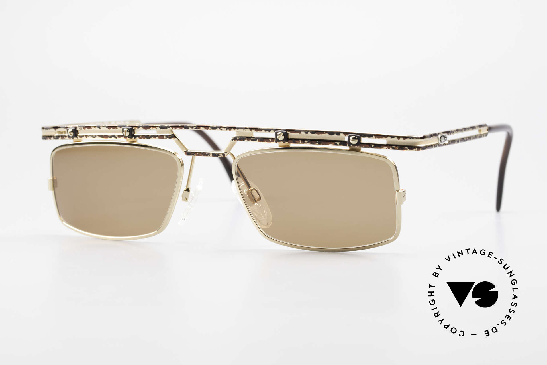 Cazal 975 Square Designer Sunglasses 90s, striking / square Cazal vintage shades from 1996/97, Made for Men