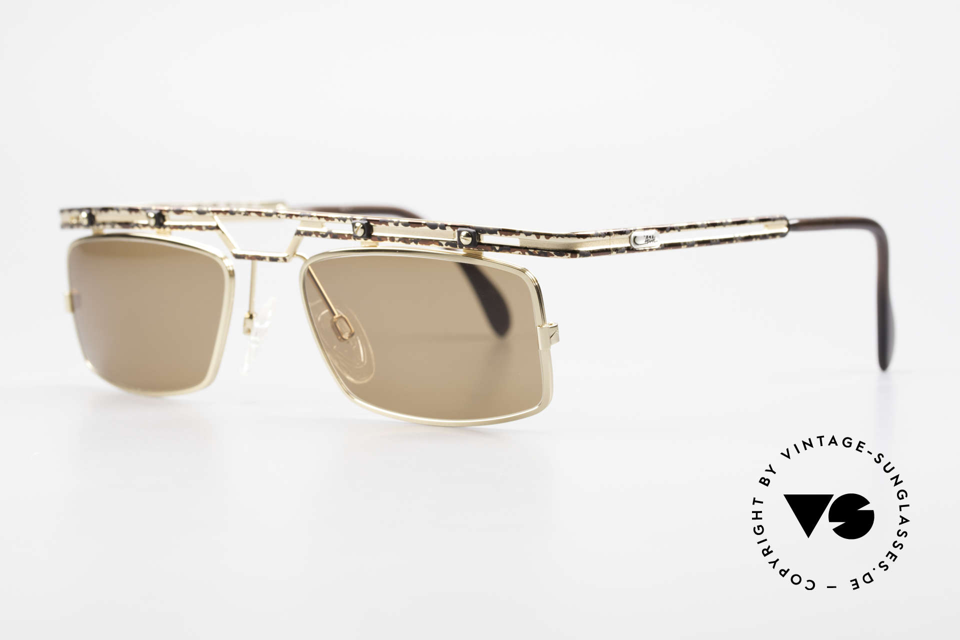 Cazal 975 Square Designer Sunglasses 90s, great metalwork and overall craftmanship; durable!, Made for Men
