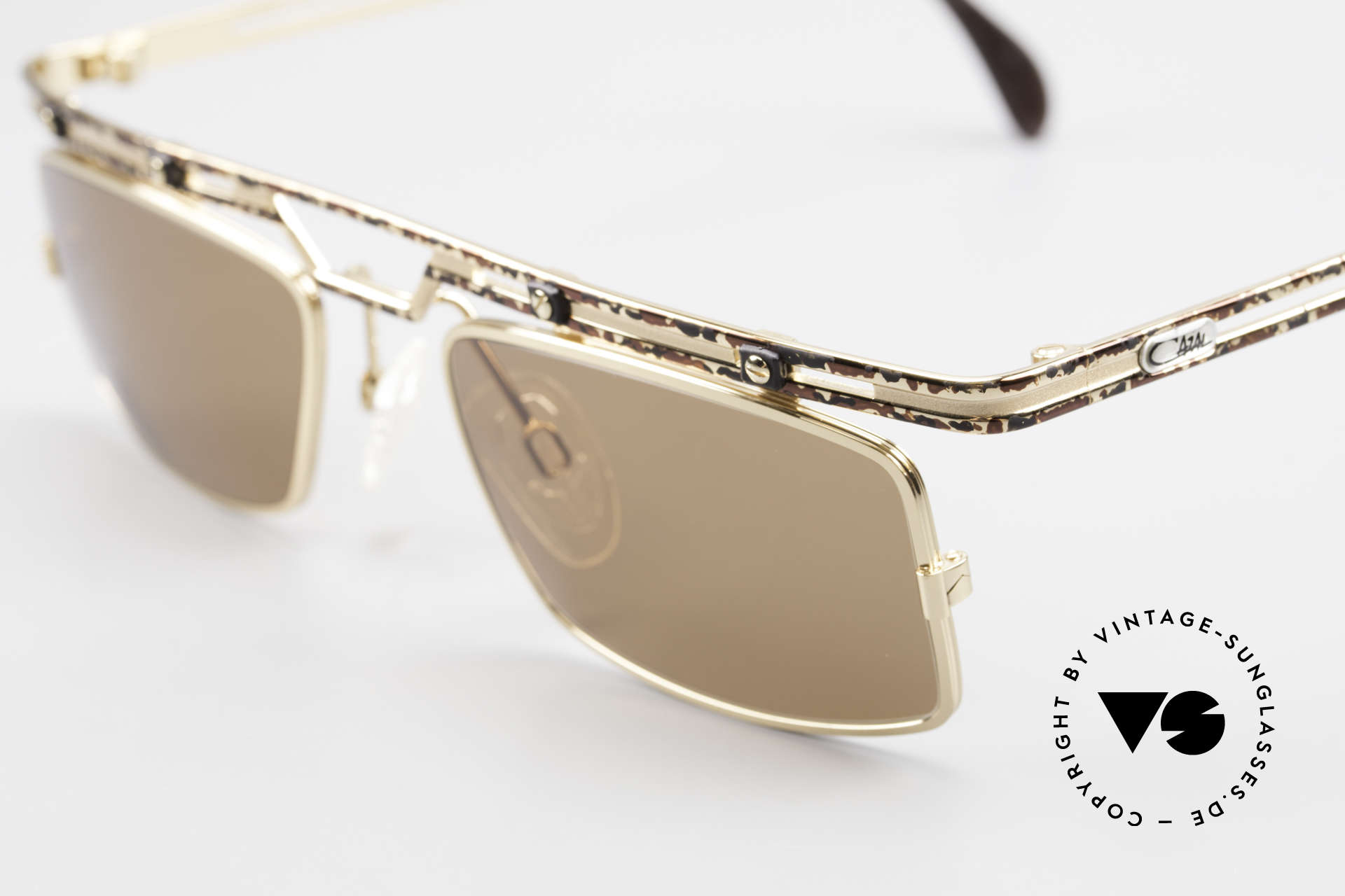 Cazal 975 Square Designer Sunglasses 90s, tangible superior crafting quality (made in Germany), Made for Men