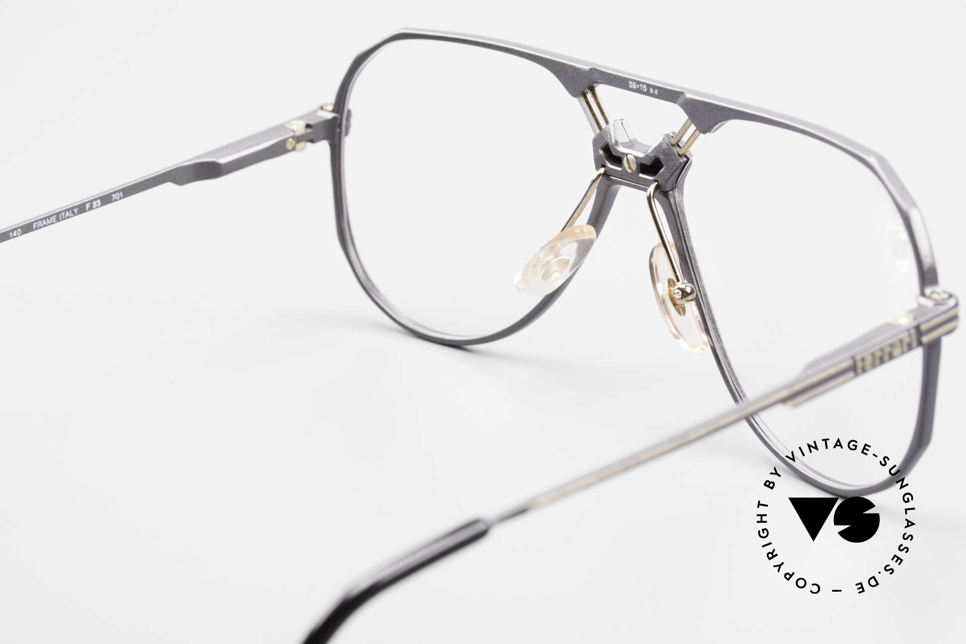 Ferrari F23 Formula 1 Ferrari Glasses Men, NO retro frame, but a rare 30 years old ORIGINAL, Made for Men