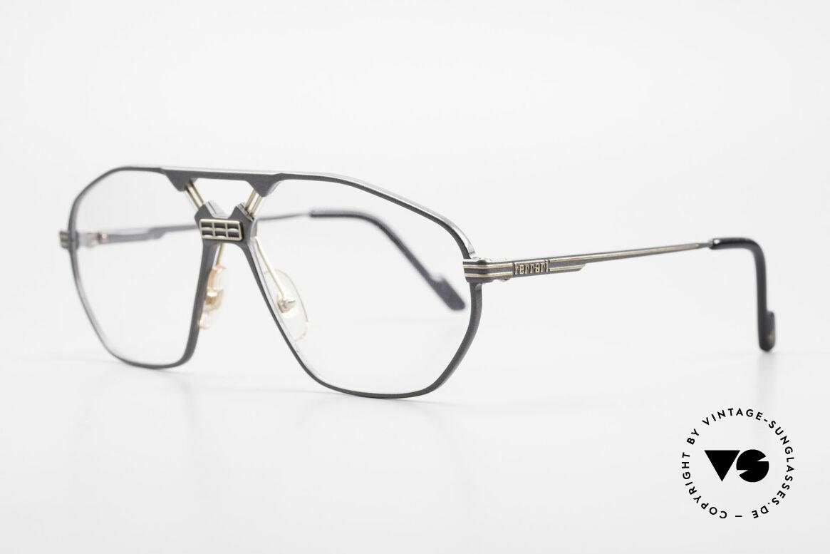 """Ferrari F22 Formula 1 Vintage Glasses 90s, modified """"aviator eyeglasses""""; flexible spring hinges, Made for Men"""