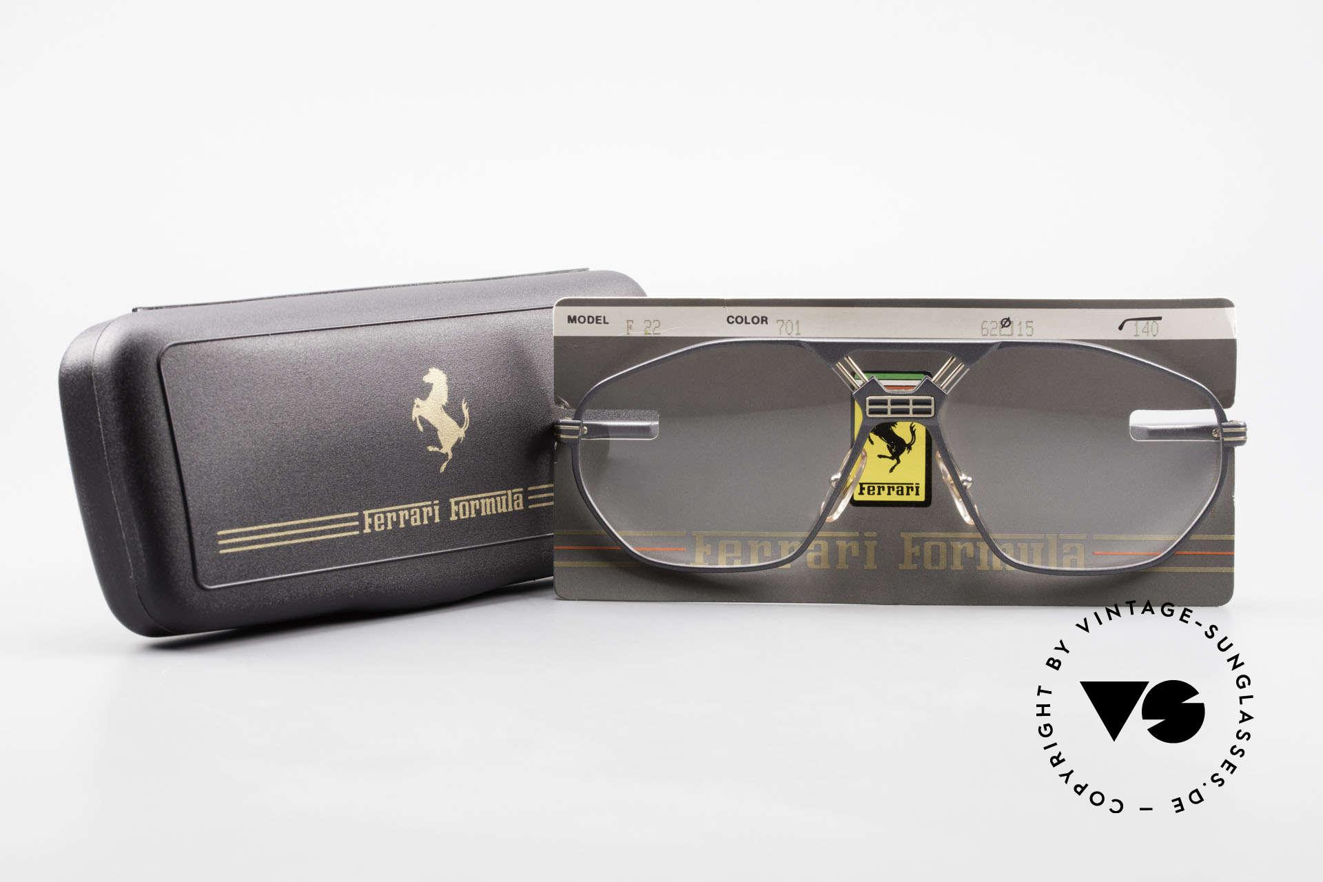 Ferrari F22 Formula 1 Vintage Glasses 90s, Size: large, Made for Men