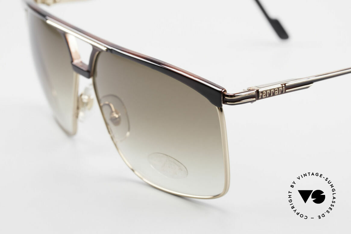 Ferrari F35 Alutanium Sunglasses X-Large, never worn (like all our RARE vintage Ferrari shades), Made for Men