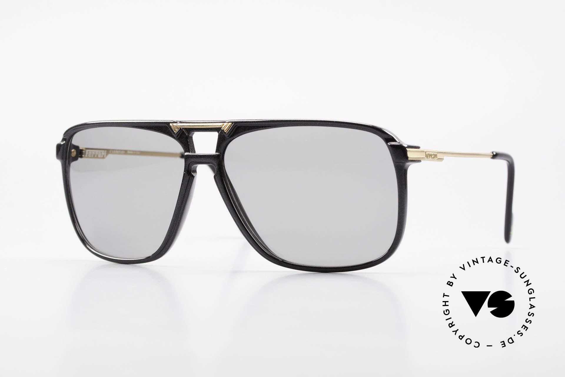 Ferrari F36/S Men's Carbon Sunglasses 90's, luxury carbon sunglasses by Ferrari from the 1990's, Made for Men