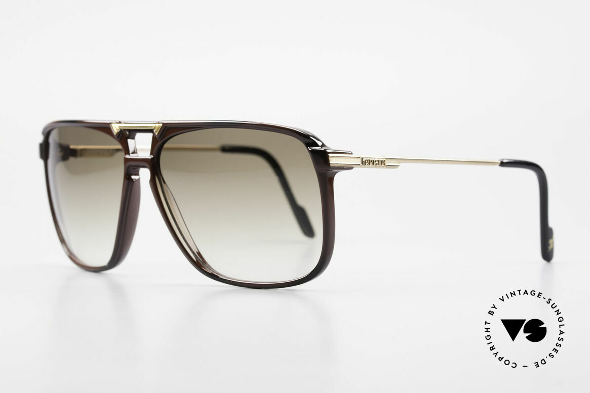 Ferrari F36/S 90's Men's Carbon Sunglasses, high-class carbon frame in 52mm height = large size, Made for Men