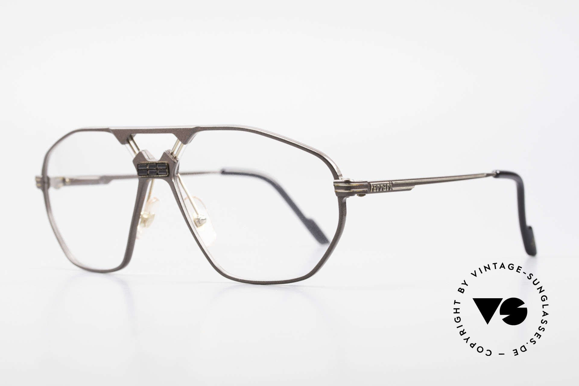 "Ferrari F22 90's Formula 1 Vintage Glasses, modified ""aviator eyeglasses""; flexible spring hinges, Made for Men"