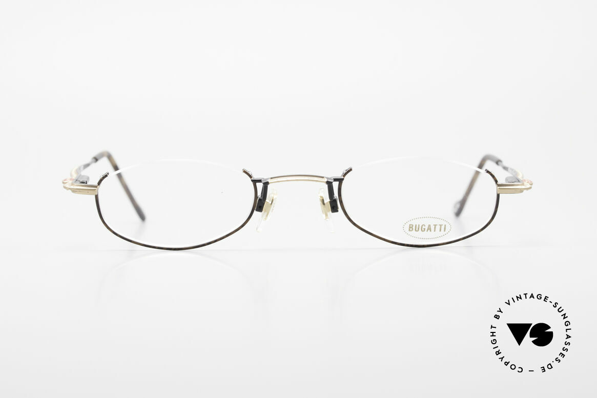 Bugatti 23687 High-Tech Men's Reading Frame, lightweight frame (17g) with flexible spring hinges, Made for Men