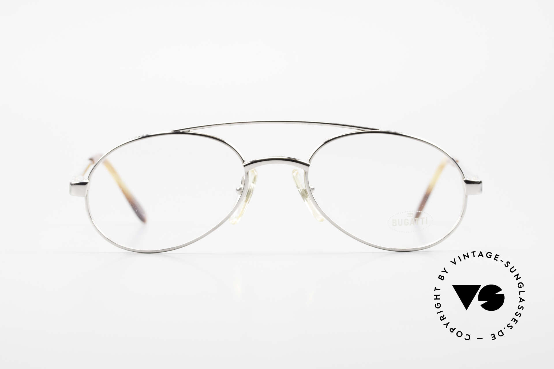 Bugatti 08104 Men's Vintage 80's Eyeglasses, chracteristic men's design by Bugatti (tear drop), Made for Men