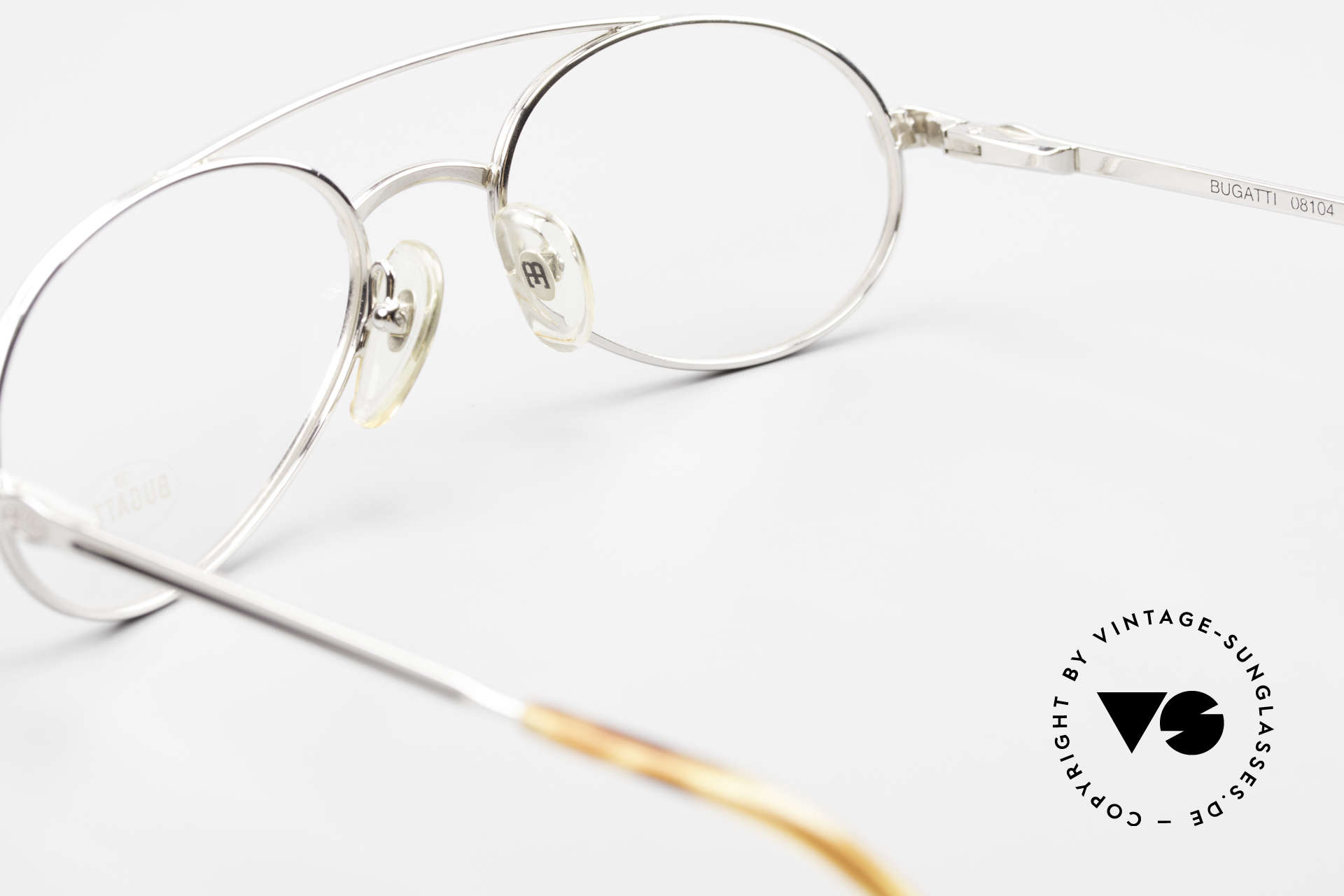 Bugatti 08104 Men's Vintage 80's Eyeglasses, DEMO lenses can be replaced with prescriptions, Made for Men