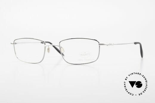 Bugatti 19061 90's Men's Titanium Eyeglasses Details
