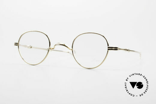 Lunor - Telescopic Gold Plated Sliding Temples Details