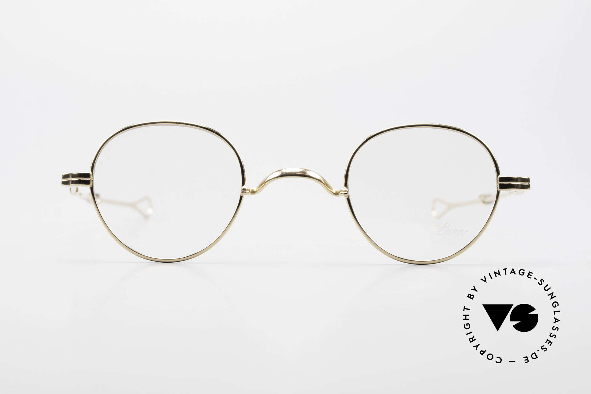Lunor I 15 Telescopic Gold Plated Sliding Temples, traditional German brand; quality handmade in Germany, Made for Men and Women