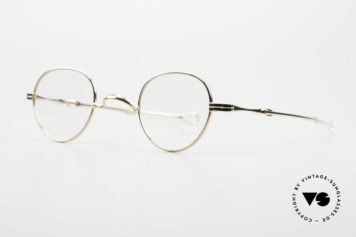 """Lunor I 15 Telescopic Gold Plated Sliding Temples, well-known for the """"W-bridge"""" & the plain frame designs, Made for Men and Women"""