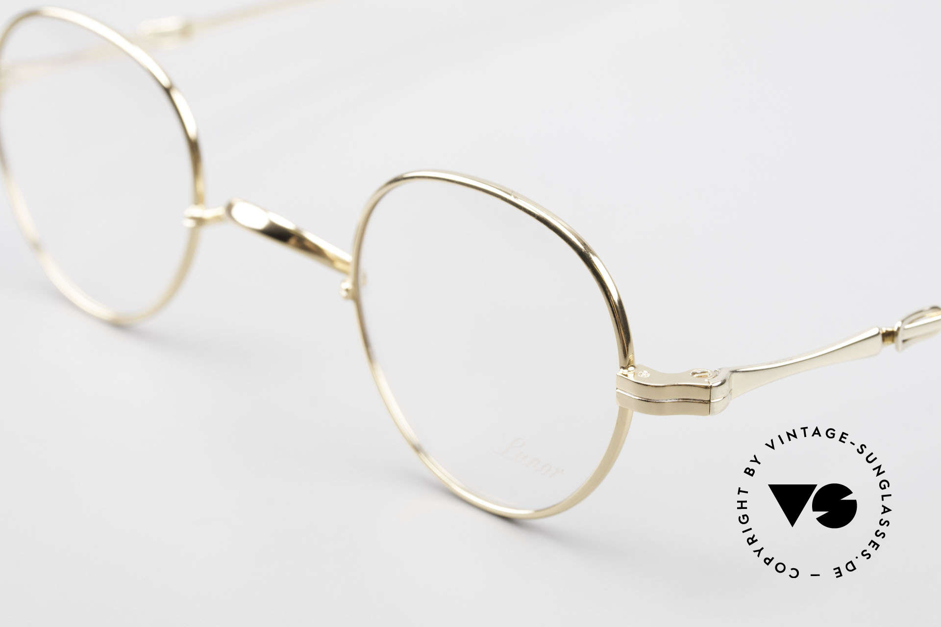 Lunor I 15 Telescopic Gold Plated Sliding Temples, as well as for the brilliant telescopic / extendable arms, Made for Men and Women