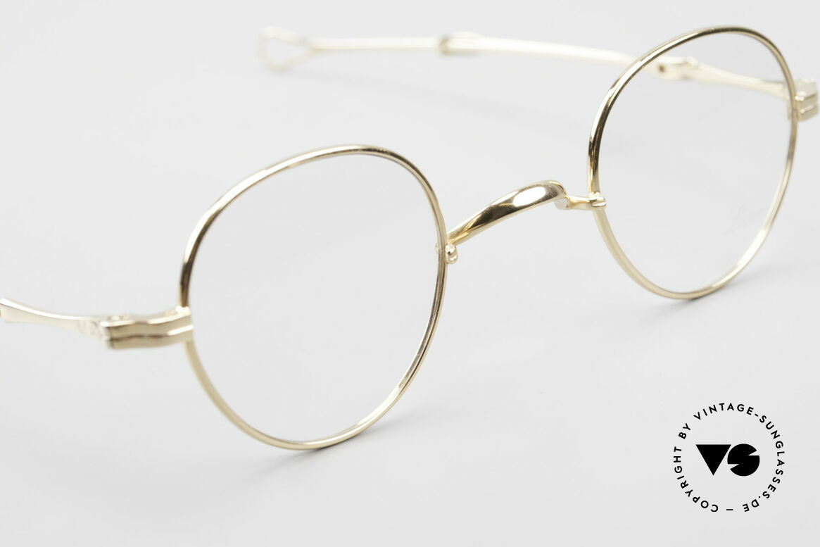 Lunor I 15 Telescopic Gold Plated Sliding Temples, unworn RARITY (for all lovers of quality) from app. 1996, Made for Men and Women