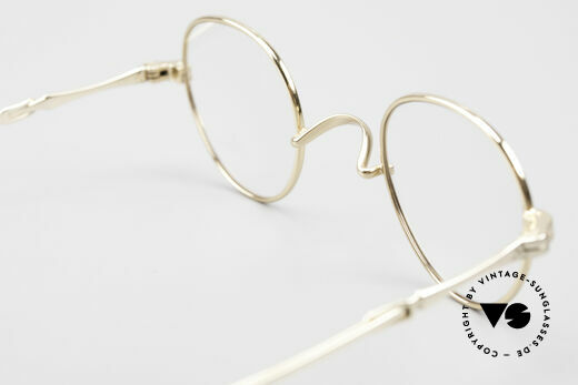 Lunor I 15 Telescopic Gold Plated Sliding Temples, the gold-plated LUNOR frame comes with an original case, Made for Men and Women
