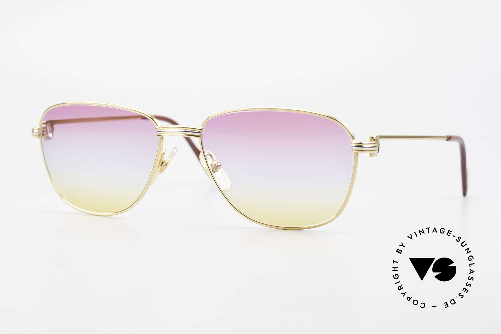 Cartier Courcelles Unique 90's Luxury Sunglasses, precious Cartier sunglasses of the 90's, M size 57°17, Made for Men and Women