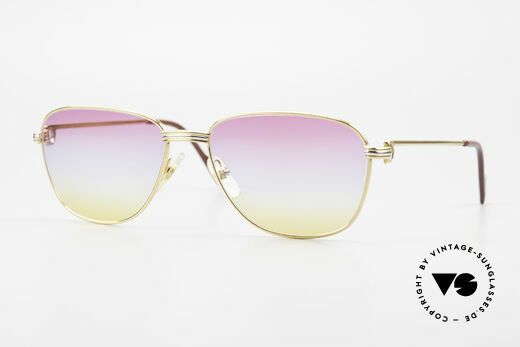 Cartier Courcelles Unique 90's Luxury Sunglasses Details