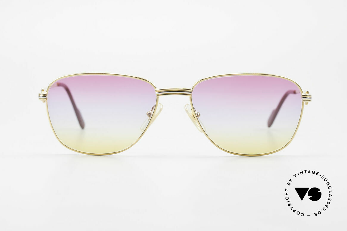 Cartier Courcelles Unique 90's Luxury Sunglasses, an old, timeless original with new, fancy sun lenses, Made for Men and Women