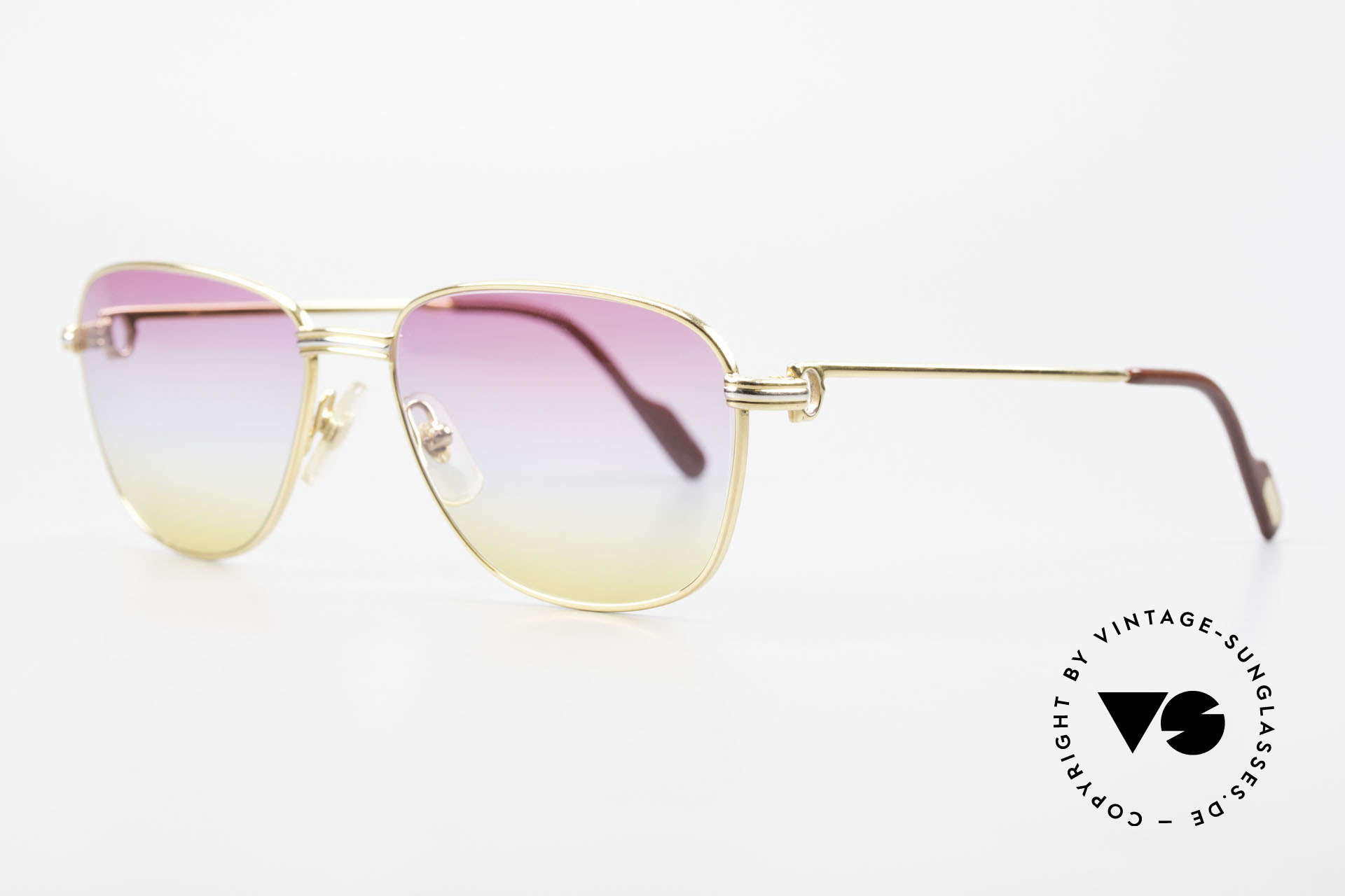 Cartier Courcelles Unique 90's Luxury Sunglasses, 22ct gold-plated (like all vintage Cartier ORIGINALS), Made for Men and Women