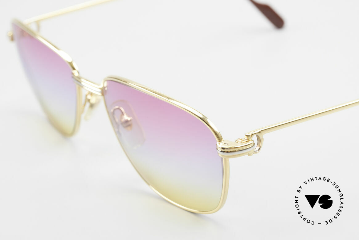 Cartier Courcelles Unique 90's Luxury Sunglasses, 2nd hand, but in a mint condition + case by CHANEL, Made for Men and Women