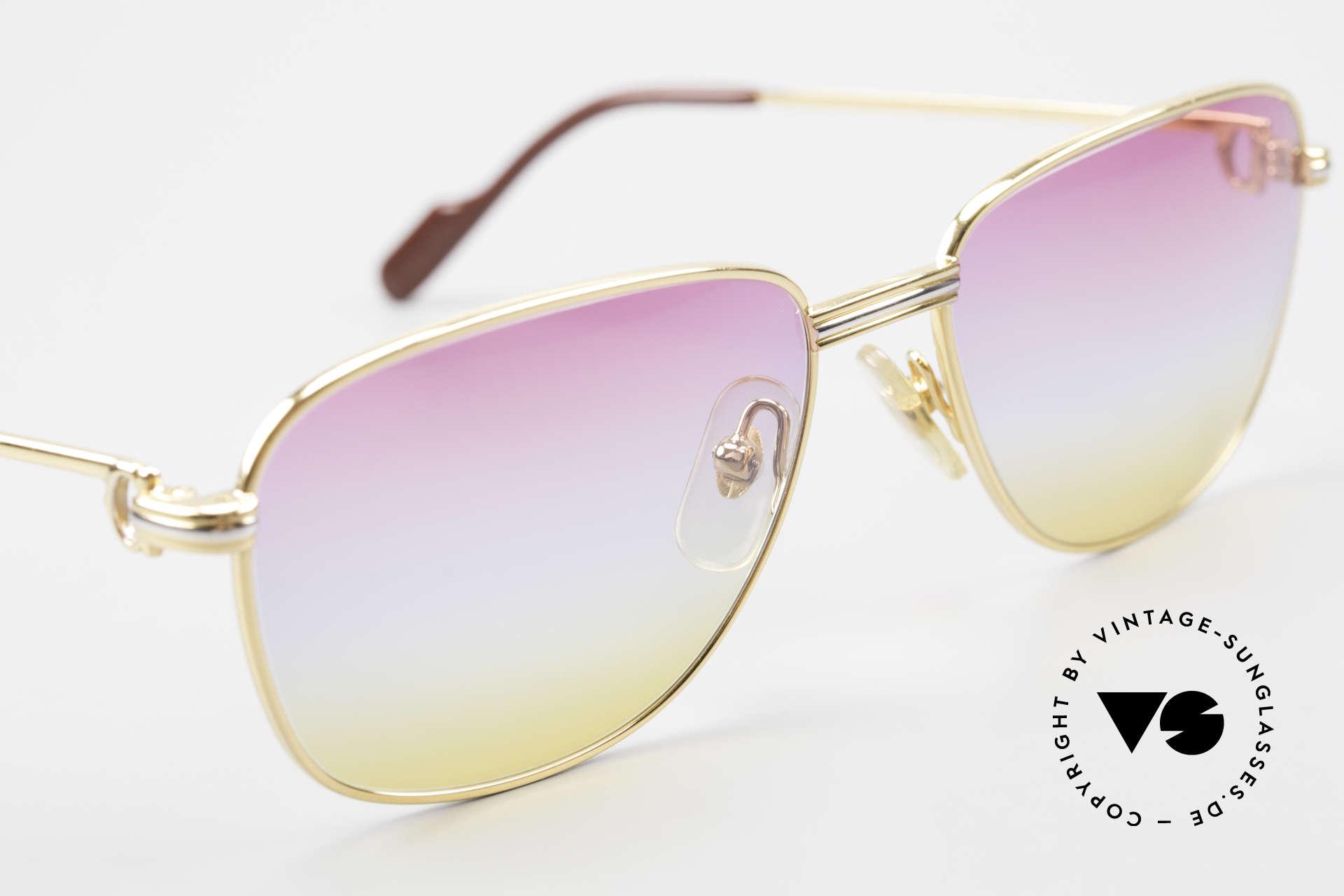 Cartier Courcelles Unique 90's Luxury Sunglasses, NO retro eyewear, but a genuine old Cartier Original!, Made for Men and Women
