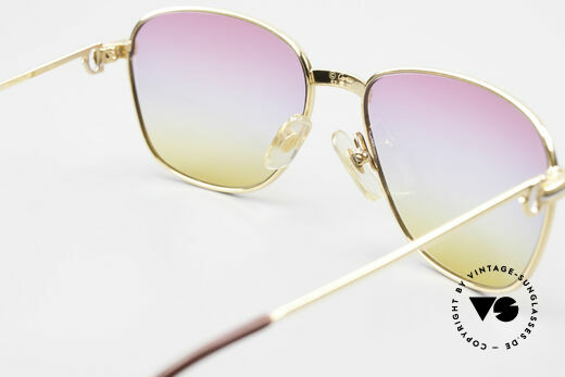 Cartier Courcelles Unique 90's Luxury Sunglasses, tricolored lenses: the triple tint looks like a sunrise, Made for Men and Women
