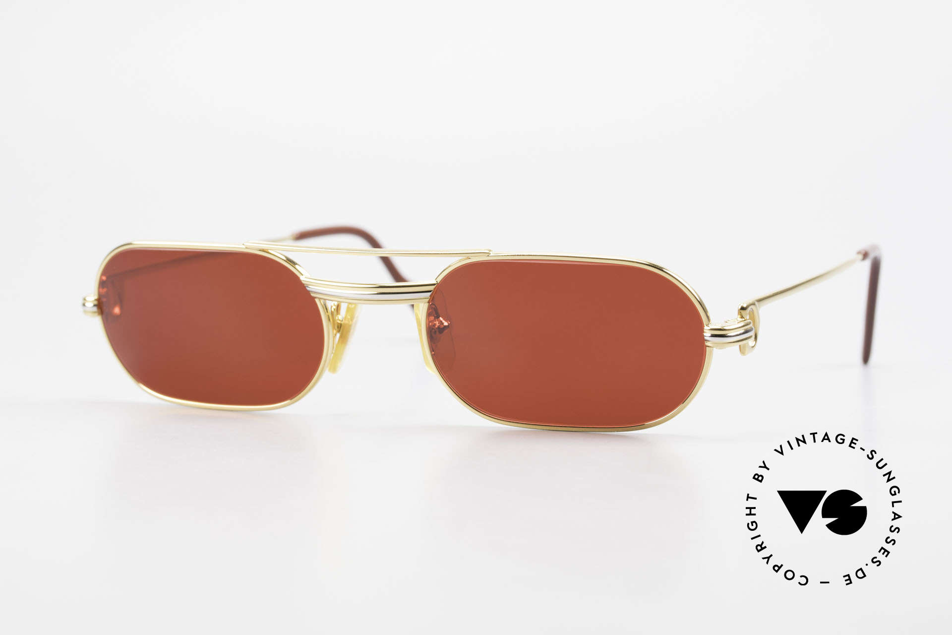 Cartier MUST LC - S 3D Red Luxury Sunglasses, MUST: the first model of the Lunettes Collection '83, Made for Men and Women