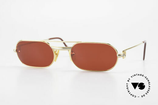 Cartier MUST LC - S 3D Red Luxury Sunglasses Details