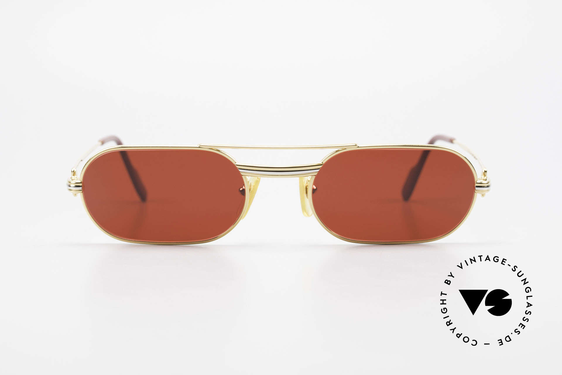 Cartier MUST LC - S 3D Red Luxury Sunglasses, this pair with Louis Cartier decor, S size 53/20, 130, Made for Men and Women