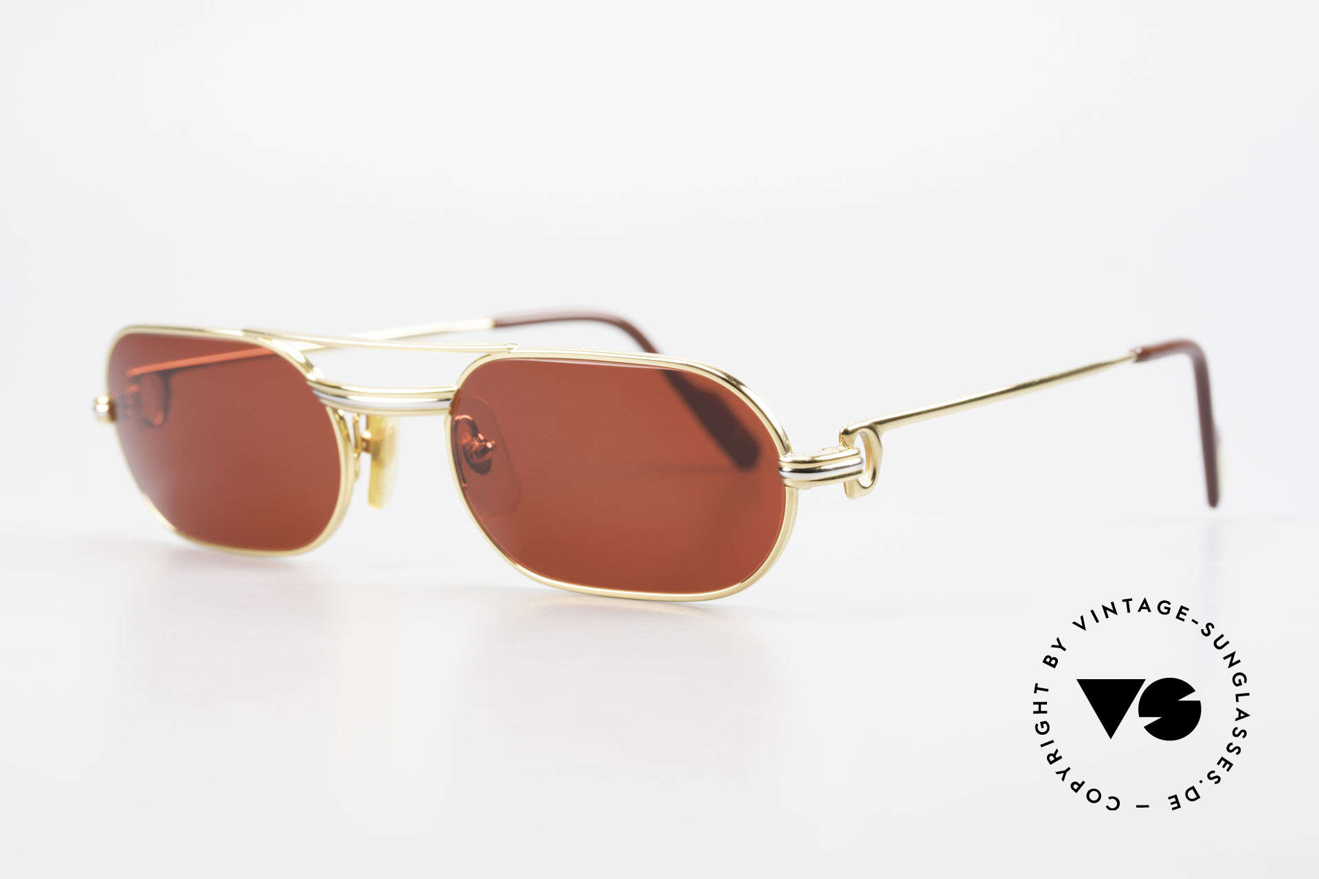 Cartier MUST LC - S 3D Red Luxury Sunglasses, 22ct gold-plated frame (like all old Cartier originals), Made for Men and Women