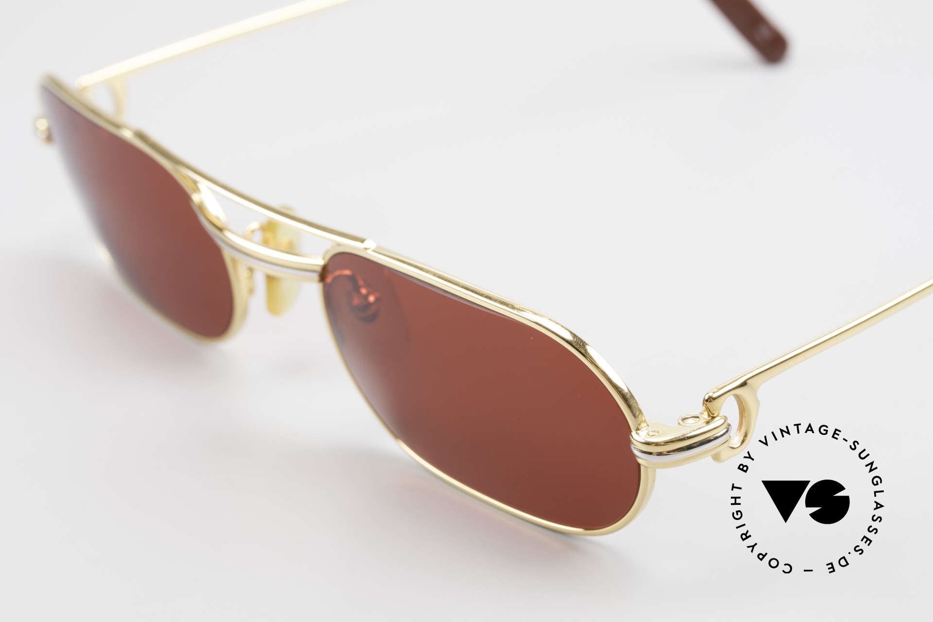 Cartier MUST LC - S 3D Red Luxury Sunglasses, with new CR39 plastic lenses in gaudy 3D-red; fancy, Made for Men and Women