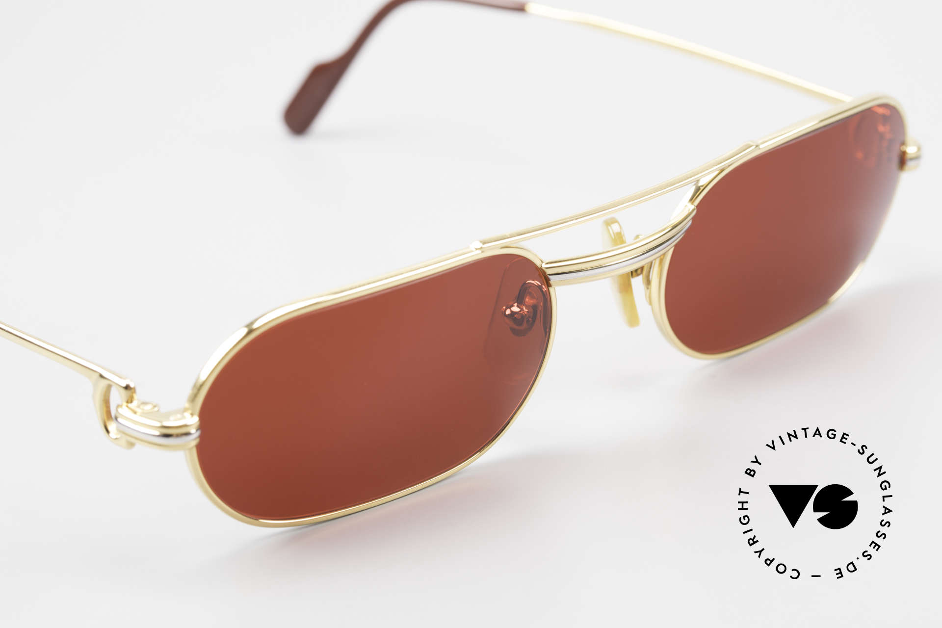 "Cartier MUST LC - S 3D Red Luxury Sunglasses, the red ""FUN"" sun lenses can be replaced optionally!, Made for Men and Women"