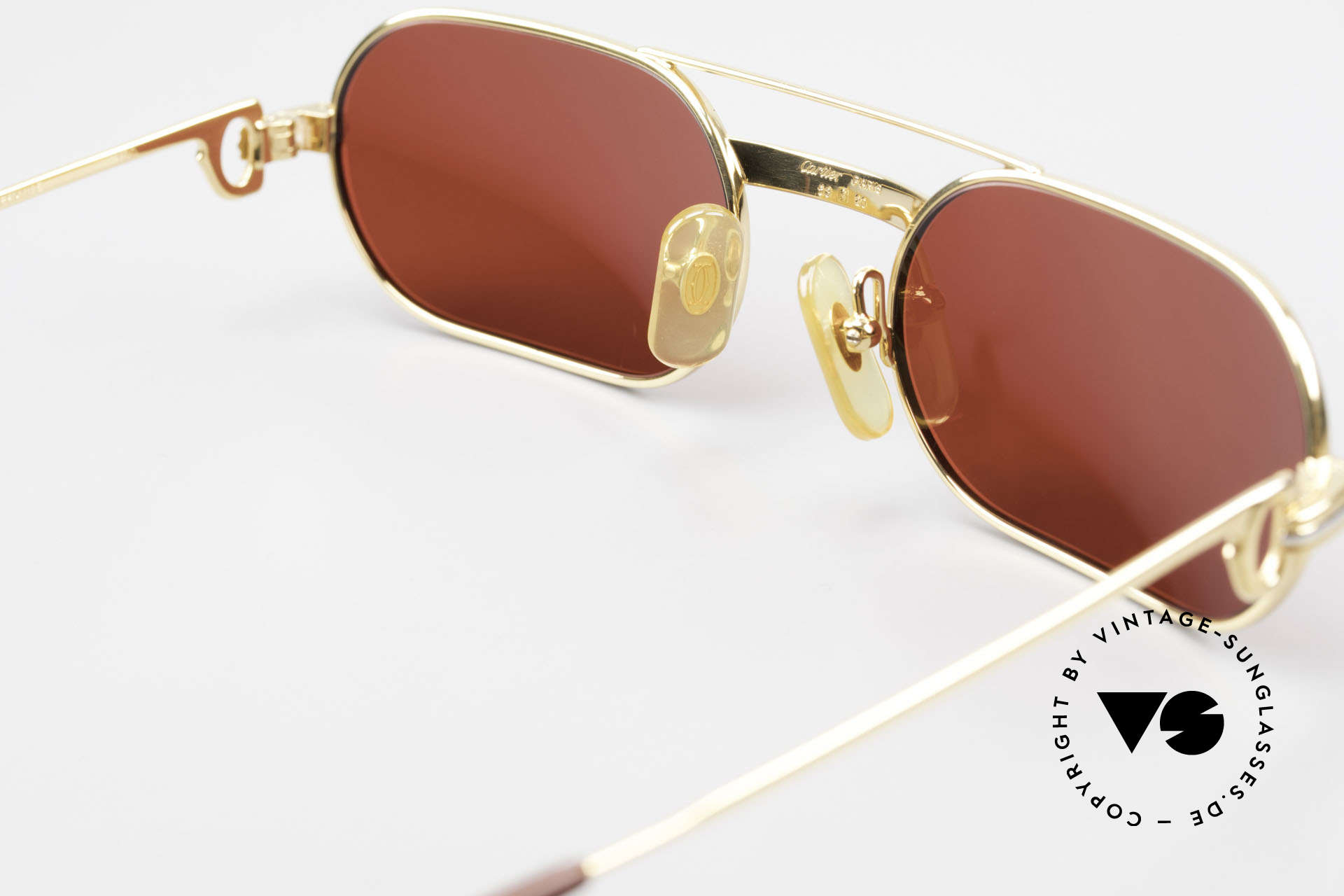 Cartier MUST LC - S 3D Red Luxury Sunglasses, 2nd hand model, but in mint condition + CHANEL case, Made for Men and Women