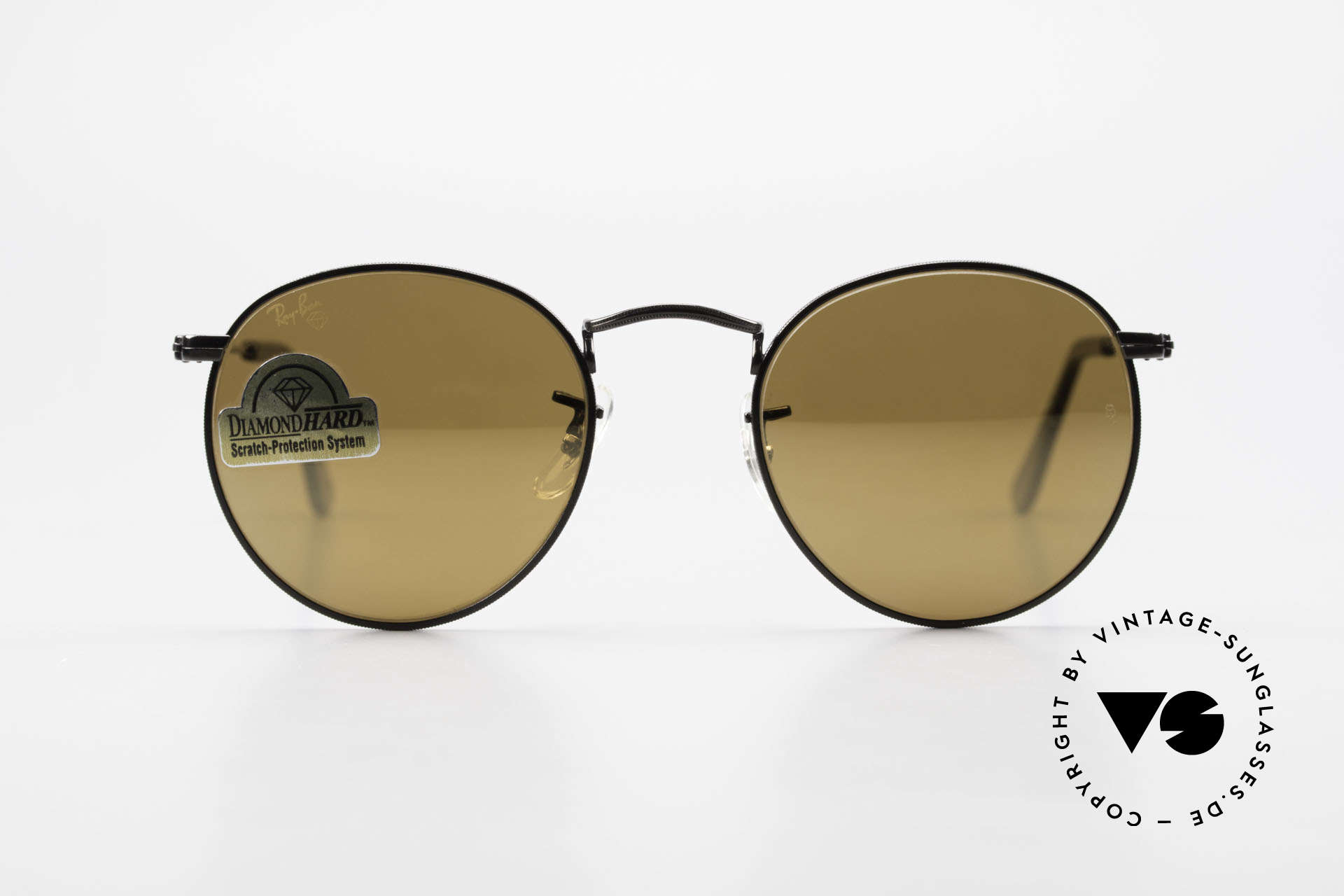 Ray Ban Round Metal 47 Small Round Diamond Hard, a timeless classic in high-end quality; made in USA, Made for Men and Women
