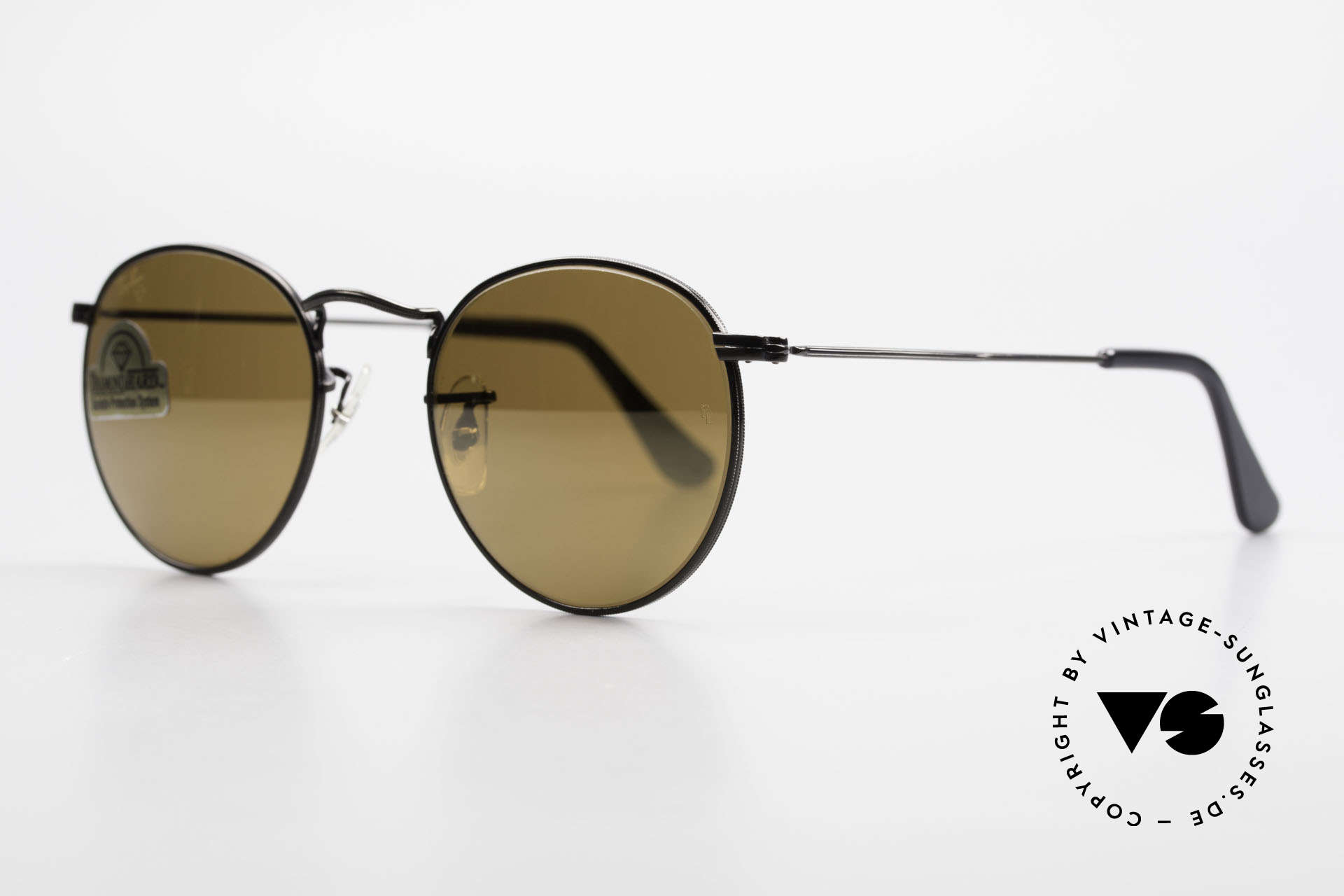 Ray Ban Round Metal 47 Small Round Diamond Hard, limited special edition: DIAMOND HARD B&L lenses, Made for Men and Women