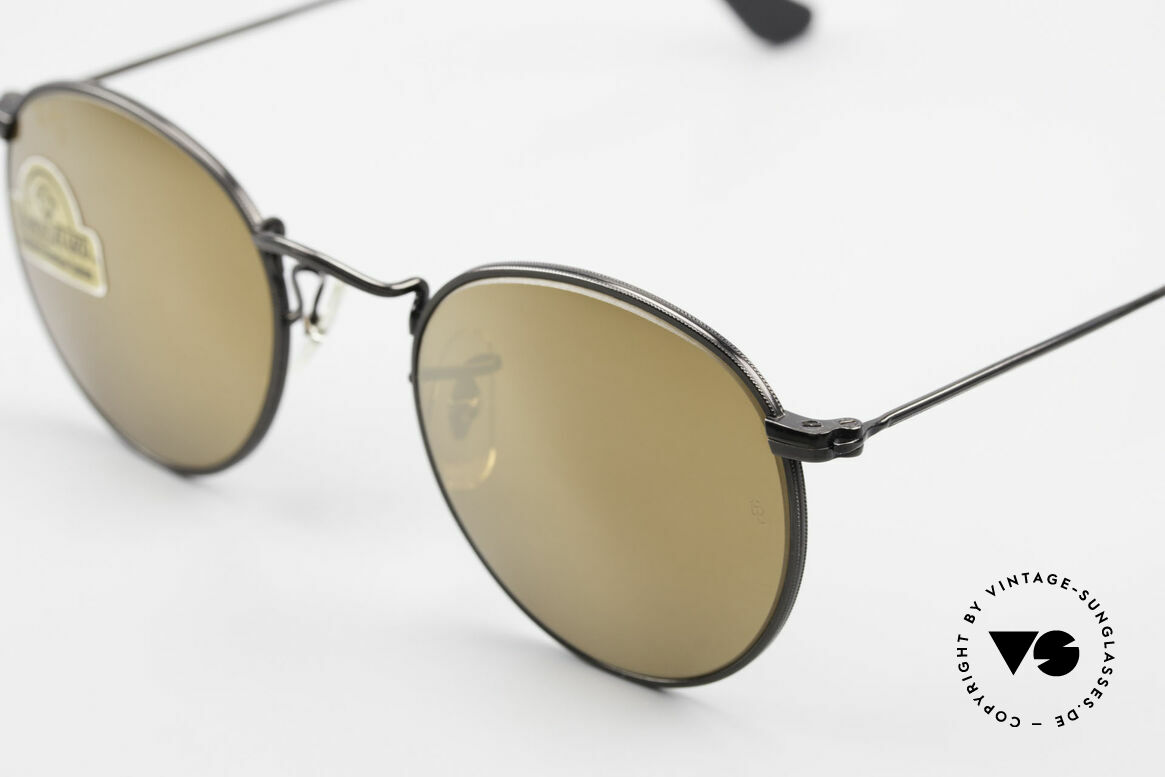 Ray Ban Round Metal 47 Small Round Diamond Hard, NO RETRO EYEWEAR, but a rare old 1980's Original!, Made for Men and Women