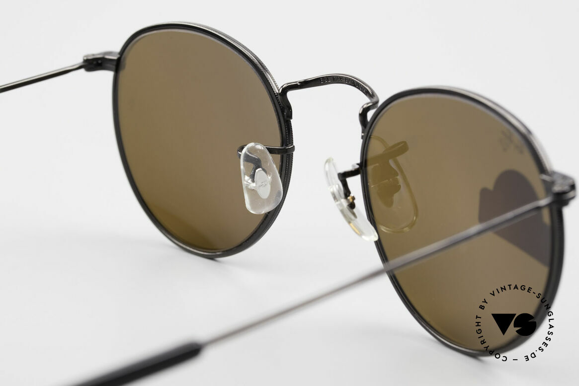 Ray Ban Round Metal 47 Small Round Diamond Hard, Size: small, Made for Men and Women