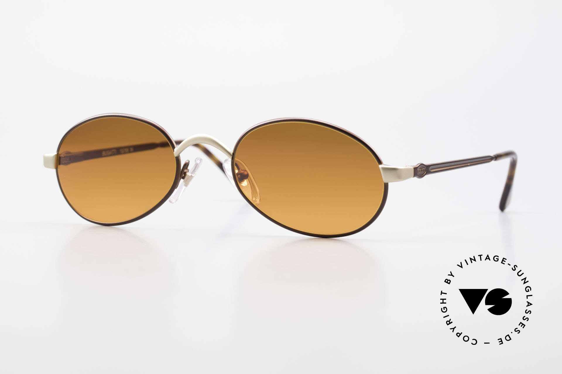 Bugatti 15769 Bronze Brown Metallic Frame, very elegant vintage designer sunglasses by BUGATTI, Made for Men and Women