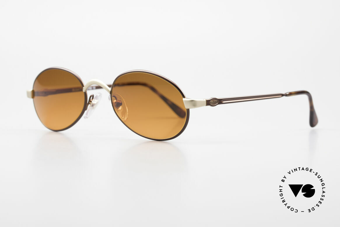 Bugatti 15769 Bronze Brown Metallic Frame, 1st class comfort due to spring temples (TOP quality), Made for Men and Women