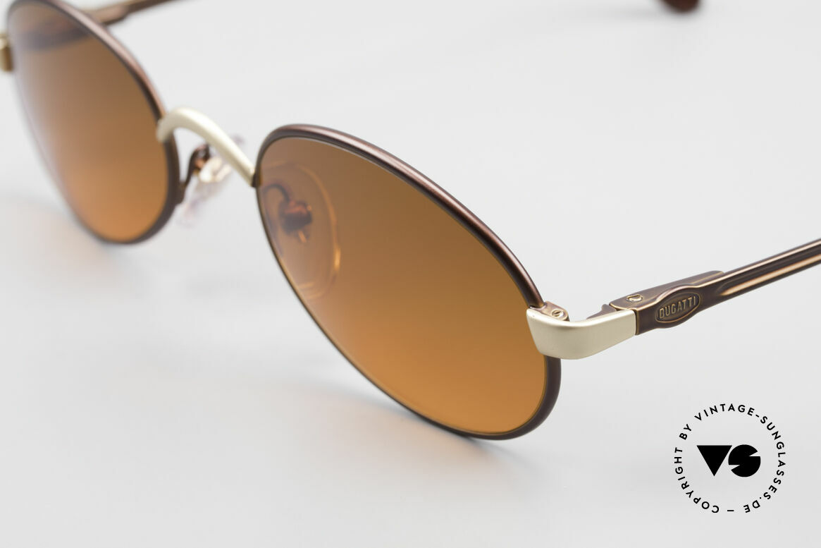 Bugatti 15769 Bronze Brown Metallic Frame, unworn (like all our rare vintage 90's Bugatti eyewear), Made for Men and Women